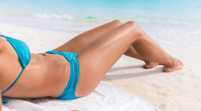 tomar el sol antes de la depilación láser